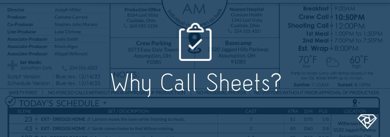 Why Call Sheets 1 - Why Call Sheets? - production-office, call-sheets