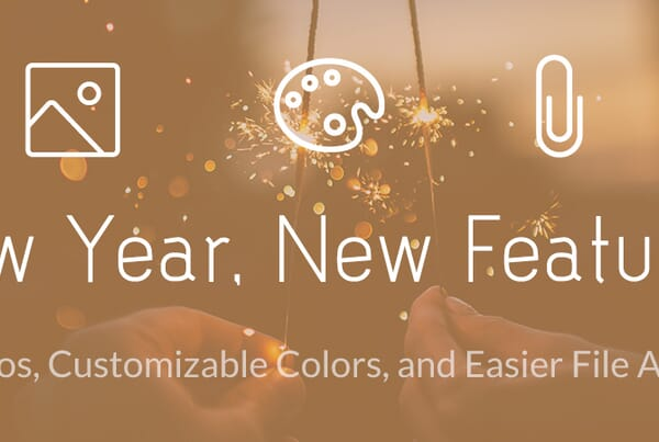 New Year, New Features! Header Logos, Customizable Colors, and Easier File Attachments